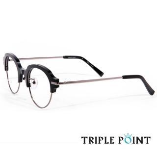 【TRIPLE POINT 韓國】人氣潮流光學眼鏡 NE系列(-黑 + 銀- NE BK)