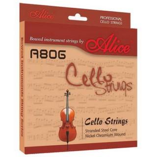 【美佳音樂】Alice A806 大提琴套弦(進口高碳鋼絲繩芯/鎳鉻合金纏弦)