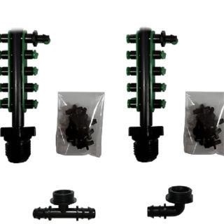 【灑水達人】16mm轉ㄧ分10孔接頭含10個綠色塞頭中段與末段2組