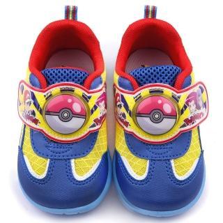 【童鞋城堡】寶貝球LED燈運動鞋  神奇寶貝-寶可夢(PA7306-藍)