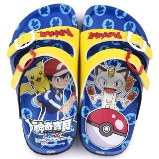 【童鞋城堡】不對稱軟木拖鞋 神奇寶貝-寶可夢(PA1712-藍)