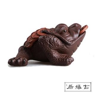 【古緣居_12H】吉祥獸紫砂 茶寵擺飾(三足金蟾)