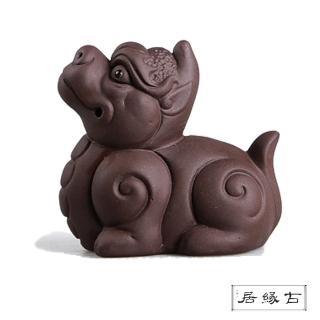 【古緣居_12H】吉祥獸紫砂 茶寵擺飾(招財貔貅)
