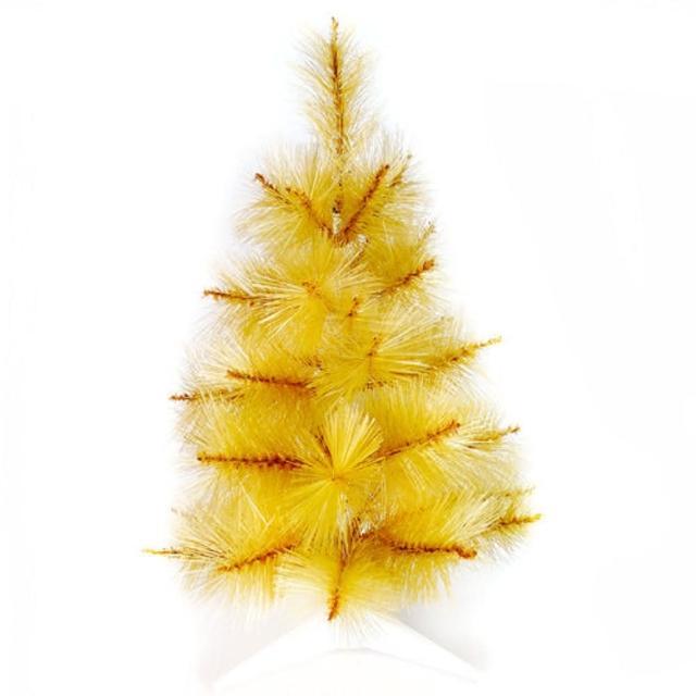 【摩達客】耶誕-2尺/2呎-60cm台灣製特級金色松針葉聖誕樹-裸樹(不含飾品/不含燈/本島免運費)/