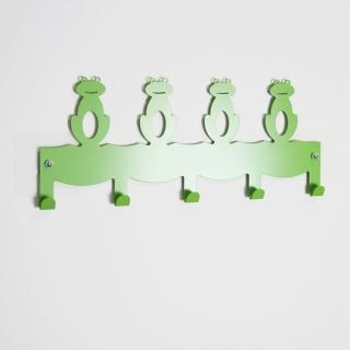 【Wisdom】SKY HOOK 系列 無痕鎖壁掛鉤-青蛙造型5鉤(2入組)