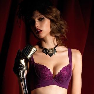 【LADY】燦亮星影系列 機能調整型 E-F罩內衣(神秘紫)