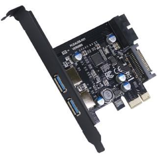 【伽利略】PCI-E USB3.0 4 Port擴充卡 支援前2-19in+後2(PEN219)