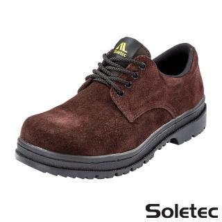 【Soletec超鐵安全鞋】C106505真皮 鞋帶款工作鞋(安全工作鞋 休閒鞋 皮鞋)