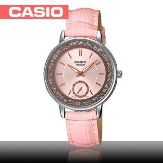 【CASIO 卡西歐】簡約大方_皮革錶帶_礦物玻璃_指針女錶(LTP-E408L)