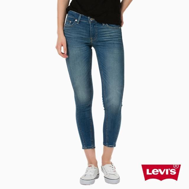 【Levis】711 中腰緊身牛仔褲 / 中彈力布料 / 雙直線修飾 / 九分褲