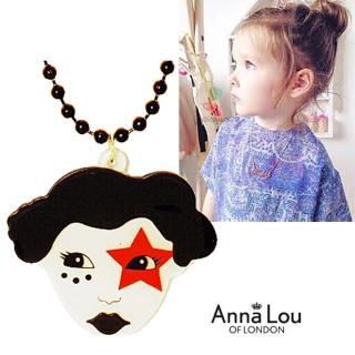 【Anna Lou Of London】倫敦品牌 Starry Eyed桃紅星星之眼小丑項鍊(絕版品 售完不補)