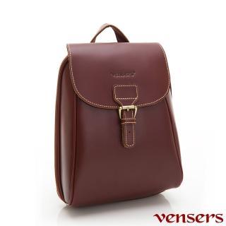 【vensers】小牛皮潮流個性包-後背包(NB1201802棕色)
