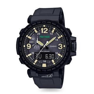 【CASIO 卡西歐 登山錶 系列】太陽能_氣壓溫度測量_耐低溫_數字羅盤_男錶(PRG-600Y)