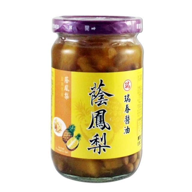 【瑞春醬油】蔭鳳梨(350g/瓶)