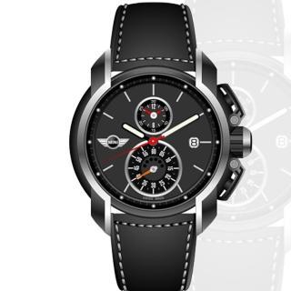 【MINI Swiss Watches】跑車時尚流線型皮帶腕錶(45mm/MINI-32)
