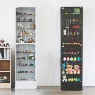 【完美主義】加高180cm直立式玻璃櫃/展示櫃/公仔櫃/模型櫃/收納櫃(兩色可選)