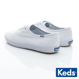 【Keds】CHAMPION 品牌經典帆布小白鞋(白色)