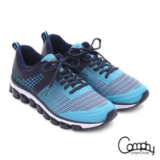 【Comphy】3D霸氣囊 透氣網布奈米健走運動鞋(藍)