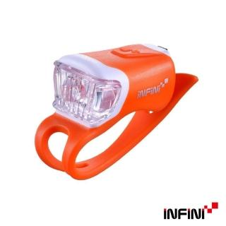 【INFINI】ORCA I-204W 鯨魚USB充電式白光警示燈(橘)