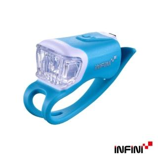 【INFINI】ORCA I-204W 鯨魚USB充電式白光警示燈(藍)