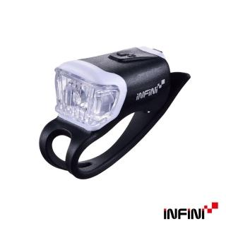 【INFINI】ORCA I-204W 鯨魚USB充電式白光警示燈(黑)