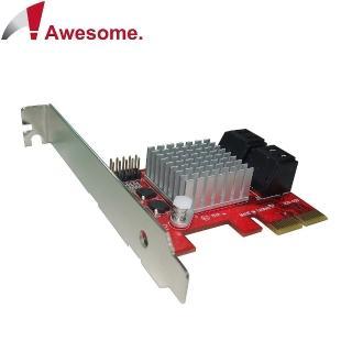 【Awesome】PCIe 2.0x4埠AHCI SATAIII 6.0擴充卡(AWD-PE-120)