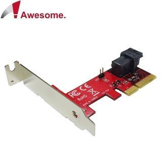 【Awesome】PCIe 3.0 x4轉MiniSAS HD36P U.2 NVMe轉接卡(AWD-PE-131)