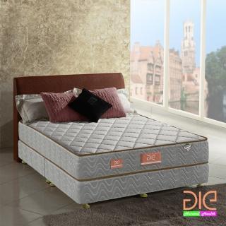 【aie享愛名床】竹碳 3M防潑水 乳膠二線獨立筒床墊-雙人加大6尺 經濟型