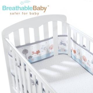 【英國 BreathableBaby】透氣嬰兒床圍 全包型(18432魔法森林款)