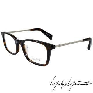 【Yohji Yamamoto 山本耀司】時尚方框金屬混搭造型光學眼鏡(琥珀 YY1007-127)