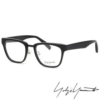 【Yohji Yamamoto 山本耀司】Yohji Yamamoto 山本耀司時尚方框造型光學眼鏡(黑 YY1018-019)