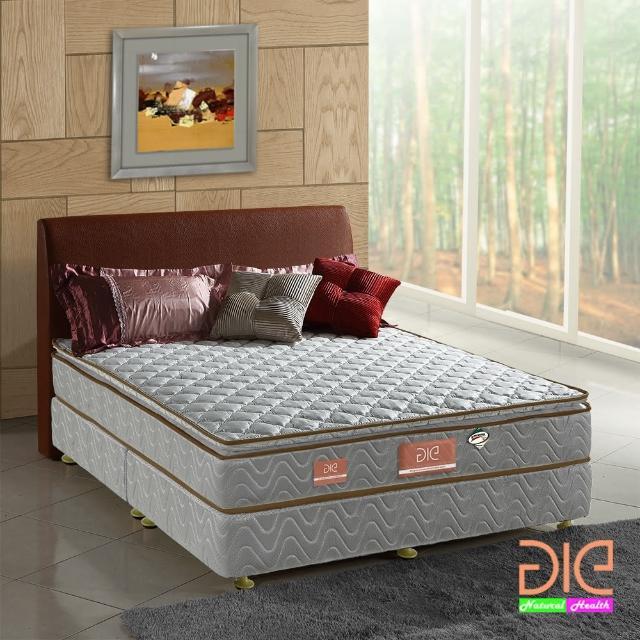 【aie享愛名床】竹碳+3M防潑水真三線彈簧床墊-雙人加大6尺(經濟型)/