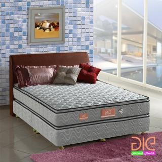 【aie享愛名床】竹碳 3M防潑水 記憶膠真四線彈簧床墊-雙人加大6尺 經濟型