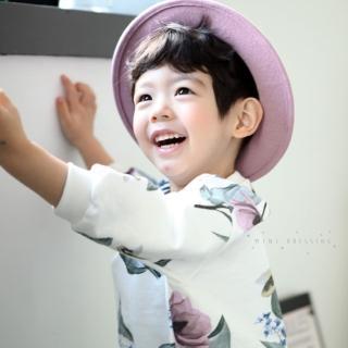 【韓國 Mini Dressing】兒童造型帽_素面紫(MDH001)