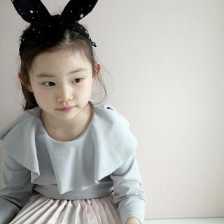 【韓國 Mini Dressing】時尚可愛兔子耳朵造型髮帶_黑白點點(MDA005)