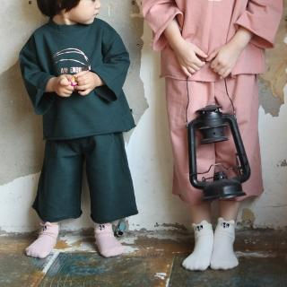 【韓國 Mini Dressing】嬰幼兒/小童短襪兩入組_粉白小兔(MDS018)