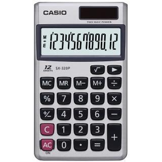 【CASIO】國家考試機型12位數計算機(SX-320P)