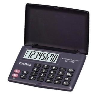 【CASIO】8位數國家考試專用可開根號攜帶型計算機(LC-160LV-BK)