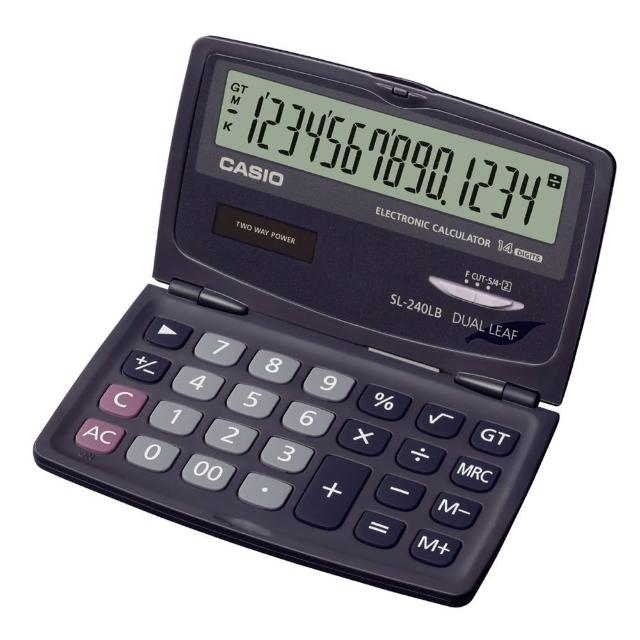 【CASIO】14位數掀蓋式口袋型計算機(SL-240LB)