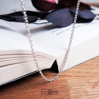 【ART64】經典圓圈細鍊 純銀長項鍊 毛衣鍊(26吋925純銀項鍊)