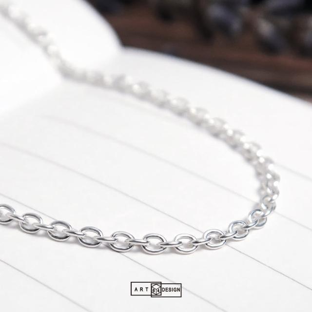 【ART64】經典圓圈細鍊 純銀長項鍊 毛衣鍊(32吋925純銀項鍊)