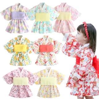 【baby童衣】日式和服浴衣洋裝 印花圖案浴衣洋裝 60364(共6色)