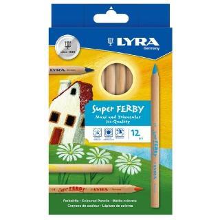 【德國LYRA】三角原木彩色鉛筆17.5cm(12色)