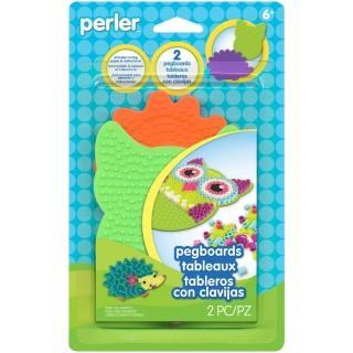 【Perler 拼拼豆豆】二入夜行動物造型模型板組合(貓頭鷹、刺蝟)