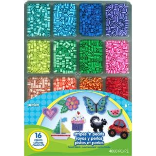 【Perler 拼拼豆豆】十六分色 4000 顆拼豆補充盒(基本4色+特殊12色)
