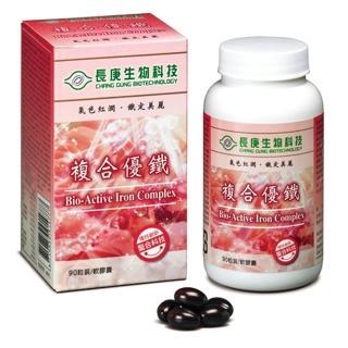 【長庚生技】複合優鐵(90粒/瓶;軟膠囊)