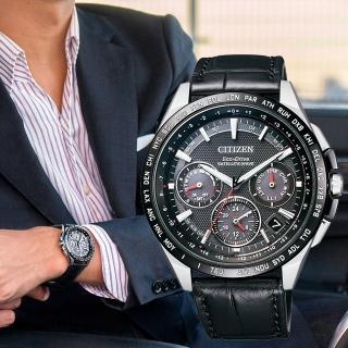 【CITIZEN 星辰】光動能衛星計時腕錶(CC9015-03E)