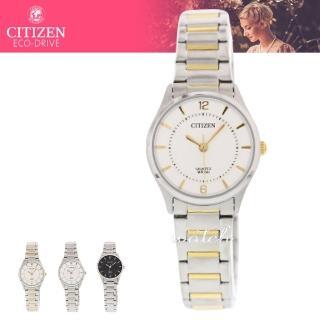 【CITIZEN 日系星辰】氣質典雅_簡約設計_不鏽鋼錶帶_礦物玻璃_指針女錶(ER0201-72A)