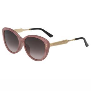 【GUCCI】-太陽眼鏡 小貓眼 皇室風格紋路(粉膚色)