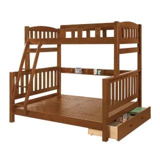 【Bernice】喬德全實木抽屜雙層床架